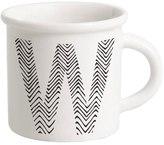 Letter W Porcelain Mug