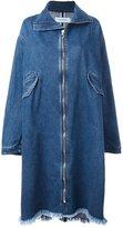 Marques Almeida Marques'almeida long zipped denim coat