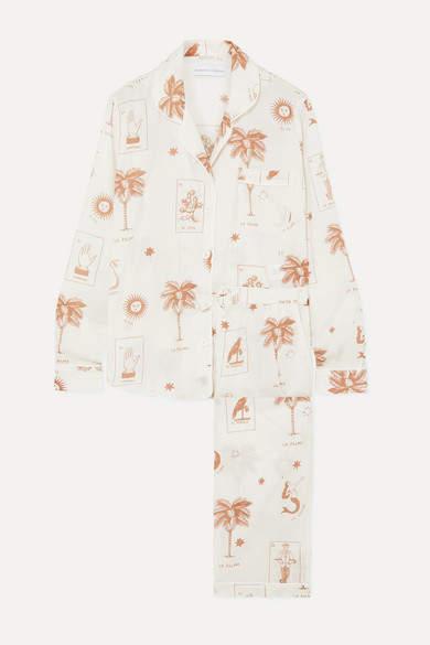 Desmond & Dempsey Printed Cotton-voile Pajama Set - Cream