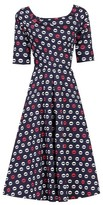 Dorothy Perkins Womens Jolie Moi Navy Printed Fit And Flare Dress