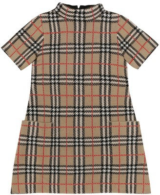 BURBERRY KIDS Vintage Check wool dress