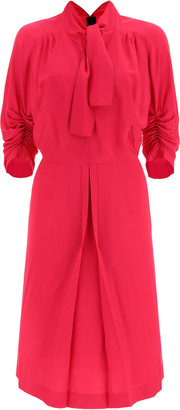 Marni MIDI DRESS WITH BOW 40 Fuchsia