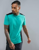 New Look Sport Cut And Sew T-Shirt In Green