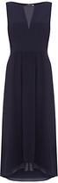 Mint Velvet Lace Back Detail Dress, Dark Blue