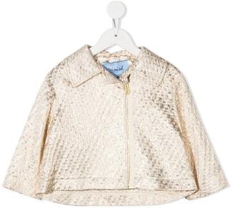 Mi Mi Sol Metallic Zip-Up Jacket