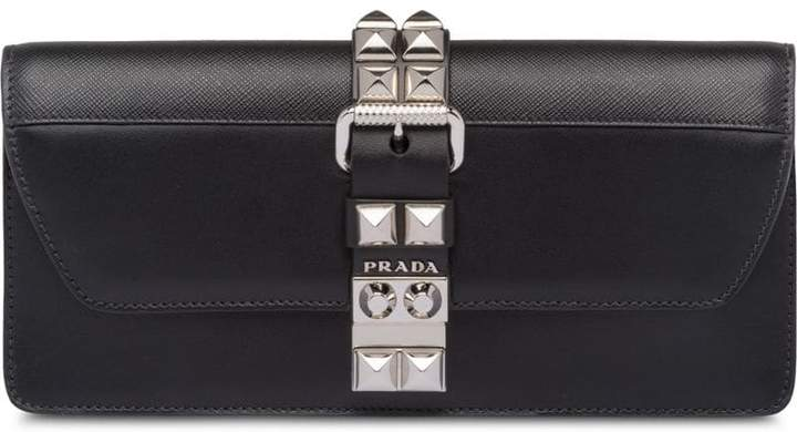 3705626852898e Prada Black Clutches - ShopStyle