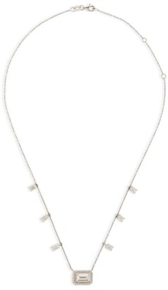 Shay White Gold and Diamond Sticks & Stones Drop Necklace