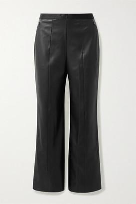 Wolford Estella Faux Leather Straight-leg Pants - Black