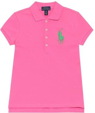 Polo Ralph Lauren Kids Logo stretch-cotton polo dress
