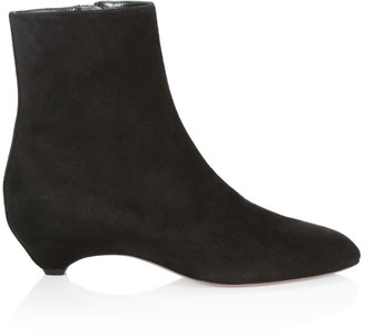 Alaia Kitten-Heel Suede Ankle Boots