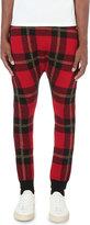 Balmain Tartan Knitted Jogging Bottoms