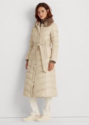 Ralph Lauren Belted Down Coat - ShopStyle