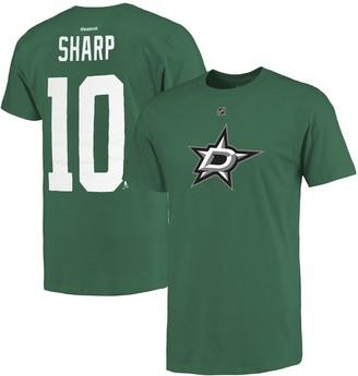 Reebok Men's Dallas Stars Patrick Sharp Kelly Green Name and Number T-Shirt