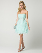 Le Château Sparkle Mesh Strapless Party Dress