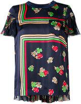 Sacai floral semi sheer blouse - women - Cotton/Polyester - 1