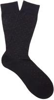 Pantherella Regent polka-dot cotton-blend socks