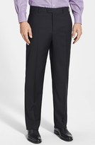 Zanella Men's 'Devon' Flat Front Wool Trousers