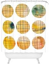 DENY Designs Susanne Kasielke Squared Circle Shower Curtain, 69 x 72