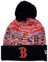 New Era Boston Red Sox Word Fuzz Knit Hat