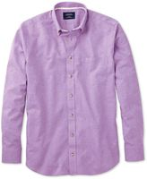 Charles Tyrwhitt Classic Fit Lilac Cotton Casual Shirt Single Cuff Size Small
