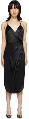 alexanderwang.t Black Cami Twist Midi Dress