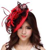 June's Young Women Fasciantor Hats Hair Accessories Feather Cocktail