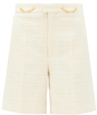 Gucci Horsebit-embellished Cotton-blend Tweed Shorts - Ivory
