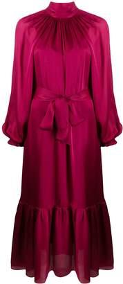 Zimmermann Long Sleeved Pleated Dress