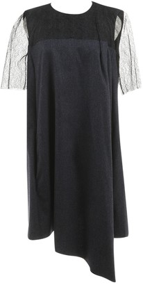 Vionnet Navy Wool Dress for Women