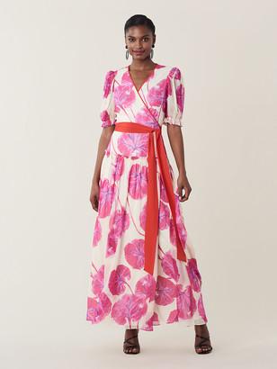 Diane von Furstenberg Breeze Silk-Chiffon Maxi Wrap Dress