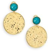 Nest Turquoise Medallion Drop Earrings