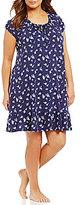 Lauren Ralph Lauren Plus Floral Ruffled Jersey Nightgown