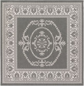 Couristan Antique Medallion Indoor/Outdoor Square Rug