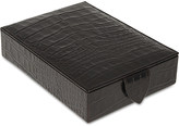 Smythson Mara leather jewellery box 17cm