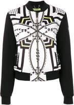 Versace zipped bomber jacket