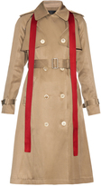 Undercover Removable-sleeved silk-blend trench coat