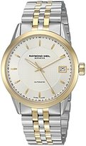 Raymond Weil Men's 'Freelancer' Swiss Automatic Stainless Steel Casual Watch, Color:Two Tone (Model: 2740-STP-65021)