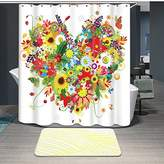 LFY Creative Home Ideas Polyester Fabric Waterproof Bathroom Shower Curtain