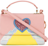 Sophie Hulme heart and lightning 'parker' bag - women - Calf Leather/Patent Leather/Metal (Other)/PVC - One Size