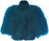 Anna Sui Mongolian Trimmed Rex Jacket
