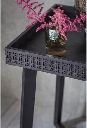 Hudson Living Boho Boutique Bedside Table - Black