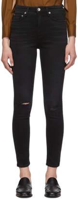 Rag & Bone Black Nina High-Rise Ankle Skinny Jeans