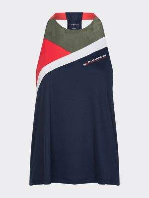 Tommy Hilfiger Colour-Blocked Mesh Panel Tank Top