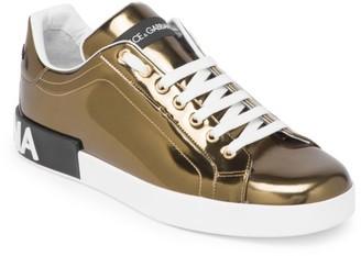 Dolce & Gabbana Metallic Low-Cut Sneaker