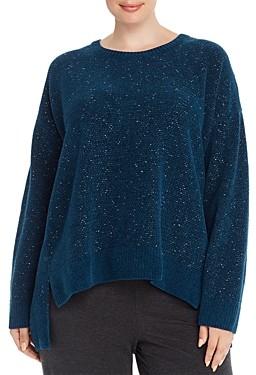 Eileen Fisher Plus Organic Cotton Boxy Sweater