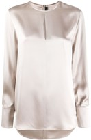 Joseph keyhole silk blouse