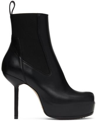 Rick Owens Black Spike Heel Beatle Boots
