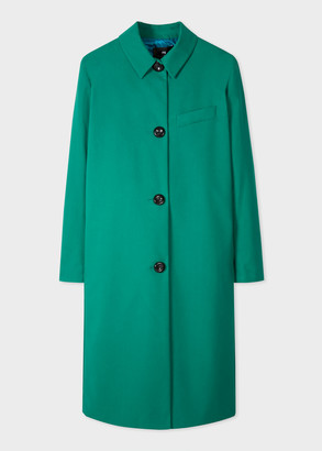 Women's Emerald Green Millerain Waxed Cotton Coat