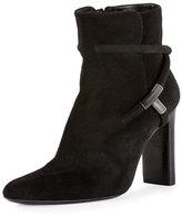 Tom Ford Suede Block-Heel 105mm Boot, Black