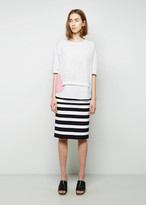 Tsumori Chisato Striped Combo Skirt